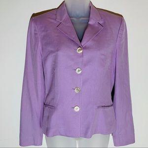 Ralph Lauren silk pastel purple blazer